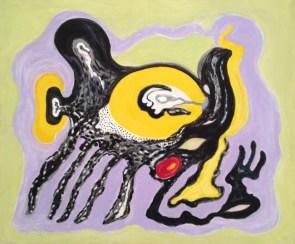 Crisalide gialla, 1994, acrilico su tela 112 x 132 cm