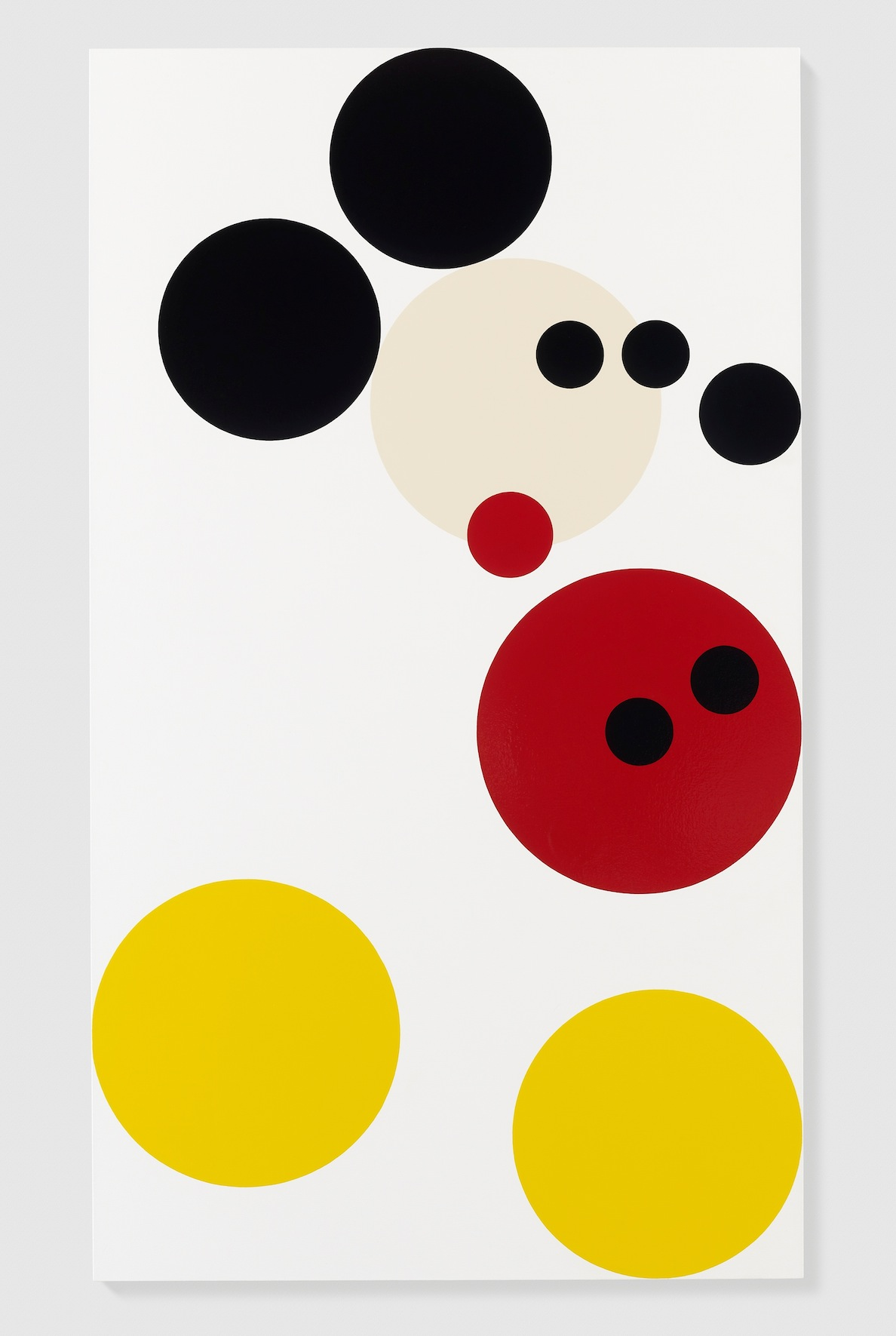 Damien Hirst, Mickey, 2013, vernice su tela, 182.9x105.4 cm, Photo by Prudence Cuming Associates © Damien Hirst and Science Ltd. All rights reserved, DACS 2013