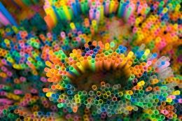 Francesca Pasquali, Multicolor Straws-Detail, 2013, cannucce colorate, 120x80x20 cm Courtesy Francesca Pasquali