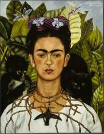 Frida Kahlo Autoritratto con collana di spine, 1940 Olio su tela, cm 63,5 x 49,5 Harry Ransom Center, Austin © Banco de México Diego Rivera & Frida Kahlo Museums Trust, México