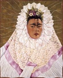 Frida Kahlo Autoritratto come Tehuana, (o Diego nei miei pensieri), 1943 Olio su tela, cm 76 x 61 The Jacques and Natasha Gelman Collection of 20th Century Mexican Art and The Vergel Foundation, Cuernavaca © Banco de México Diego Rivera & Frida Kahlo Museums Trust, México