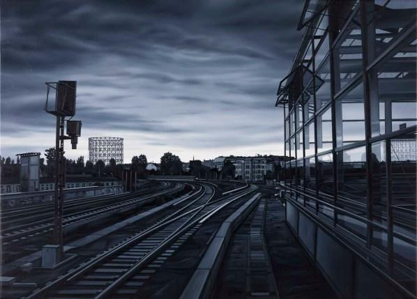 Andrea Chiesi, Perpetuum 12, 2011, olio su lino, 100x140 cm