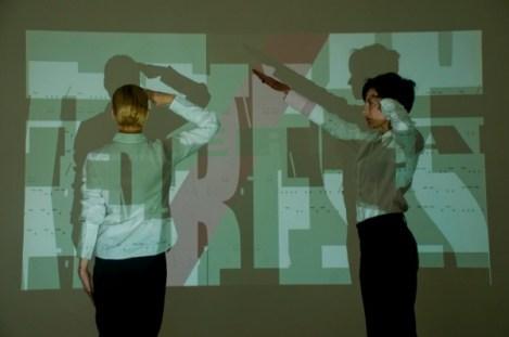 Agent/Encoding/Flow, performance by Maria Jose Arjona. Photo Lisa Palomino