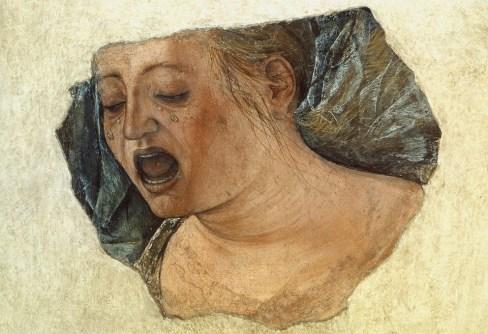 Ercole de Roberti, Maddalena piangente, cm 39.3x39.3, Bologna, Pinacoteca Nazionale