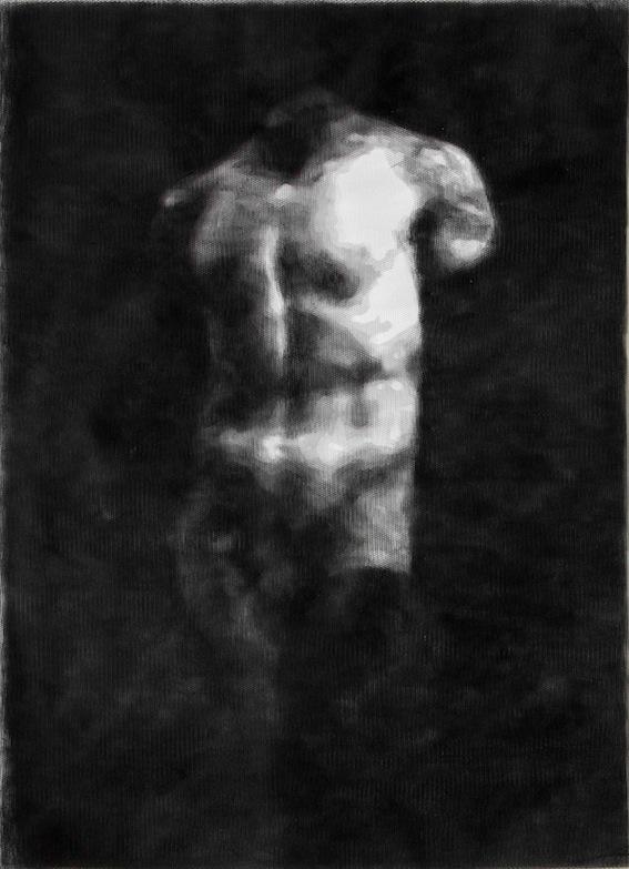 Giorgio Tentolini, Pagan Poetry, 2013, 16 strati di tulle nero intagliati a mano e sovrapposti, 58x42 cm