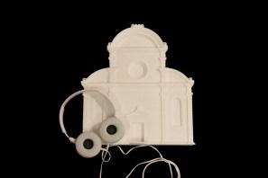 Un modello prodotto con stampa 3D della facciata della Chiesa di San Michele in Isola di Mauro Codussi a Venezia