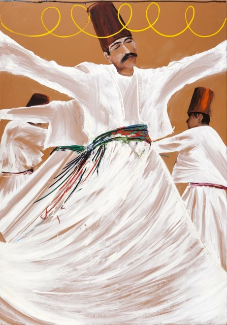 Aldo Mondino, Turcata, olio su linoleum, ph. Laura Fantacuzzi