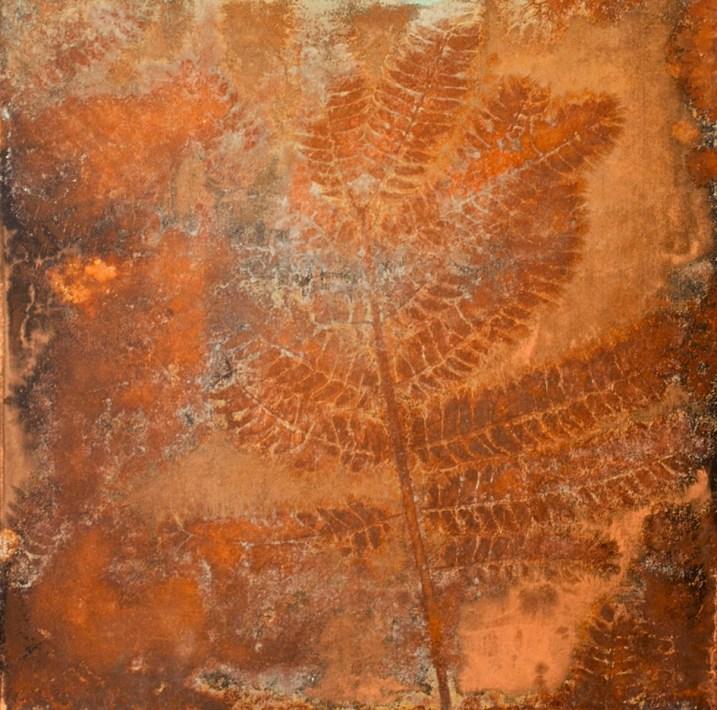 Federico Gori, Di fragilità e potenza, 2013, incisioni e ossidazioni naturali su rame, 32.5x32.5 cm Courtesy Galleria Bonioni Arte, Reggio Emilia