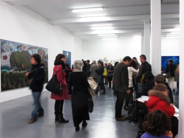 Fulvio Di Piazza. Pacific, veduta della mostra, inaugurazione, Galleria Giovanni Bonelli, Milano