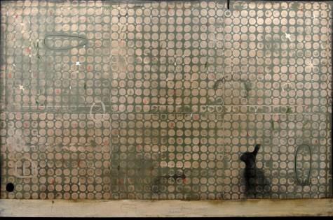Mirko Baricchi, Leveret, 2013, tecnica mista su tela, 100x150 cm Courtesy Galleria Bonioni Arte, Reggio Emilia