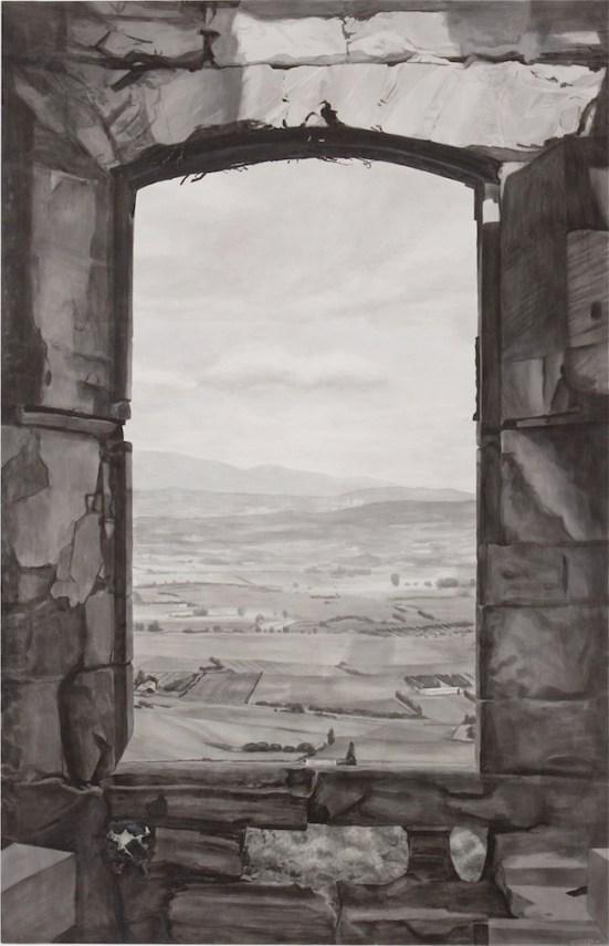 P. Timoney, Sade's Versus Lacoste, 2007, china e acquerello su tela, 170x265,5 cm, Collezione Privata, Photo © Enzo Velo