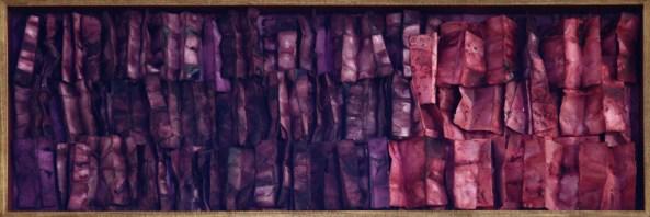 Renata Boero, Germinazione, tecnica mista sotto plexiglas, 60x180 cm Foto Giorgio Majno