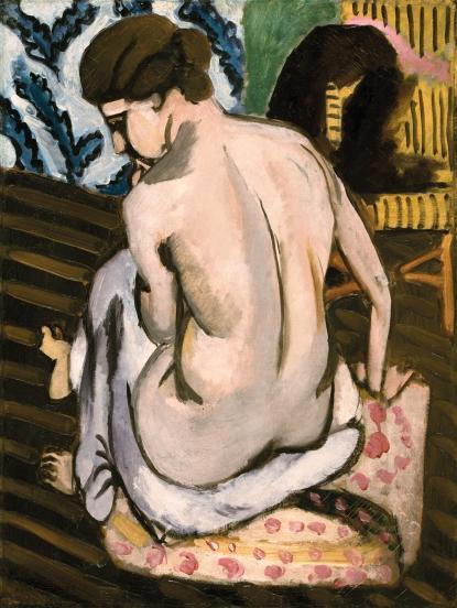 Henri Matisse, Nudo seduto di spalle, 1917, olio su tela, 62.2x47.1 cm, Philadelphia Museum of Art © Succession H. Matisse by SIAE 2013