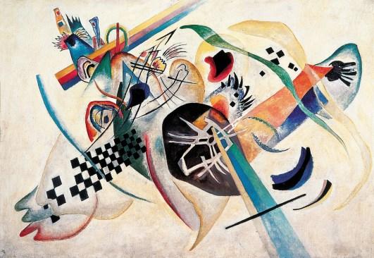 Wassily Kandinsky, Composizione su bianco, 1920 Museo Russo di Stato, San Pietroburgo © Wassily Kandinsky by SIAE 2014