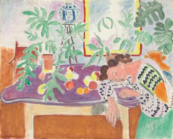 Hanri Matisse, Natura morta con donna addormentata, 1940, olio su tela, 82.5x100.7 cm, National Gallery of Art, Washington © Succession H. Matisse by SIAE 2013