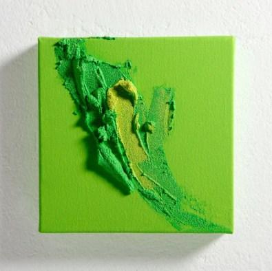 Alessandra Angelini, Accenti Sei, 2014, tempera con pigmenti e paste materiche su tela, 20x20 cm