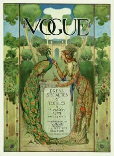 Copertina di Vogue US del 18 marzo 1909 - illustrazione di Allen St. Jones, Vogue © Condé NastL