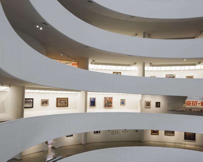 Installation view:Italian Futurism, 1909–1944: Reconstructing the Universe, Solomon R. Guggenheim Museum, New York, February 21–September 1, 2014. Photo: Kris McKay©SRGF