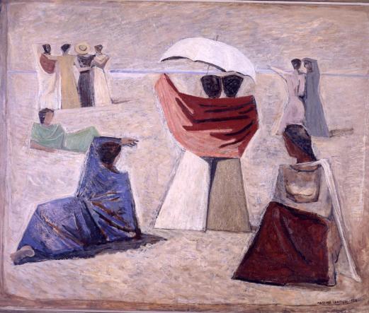 Massimo Campigli, Le mogli dei marinai, 1934, olio su tela