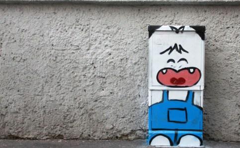 Pao, intervento di street art