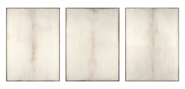 Ettore Frani, 'Respiri', trittico, olio su tavola, cm.115x85x3