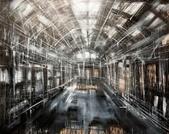 Federico Romero Bayter, Interior Reggiane, 2014, olio su tela, 130x180 cm