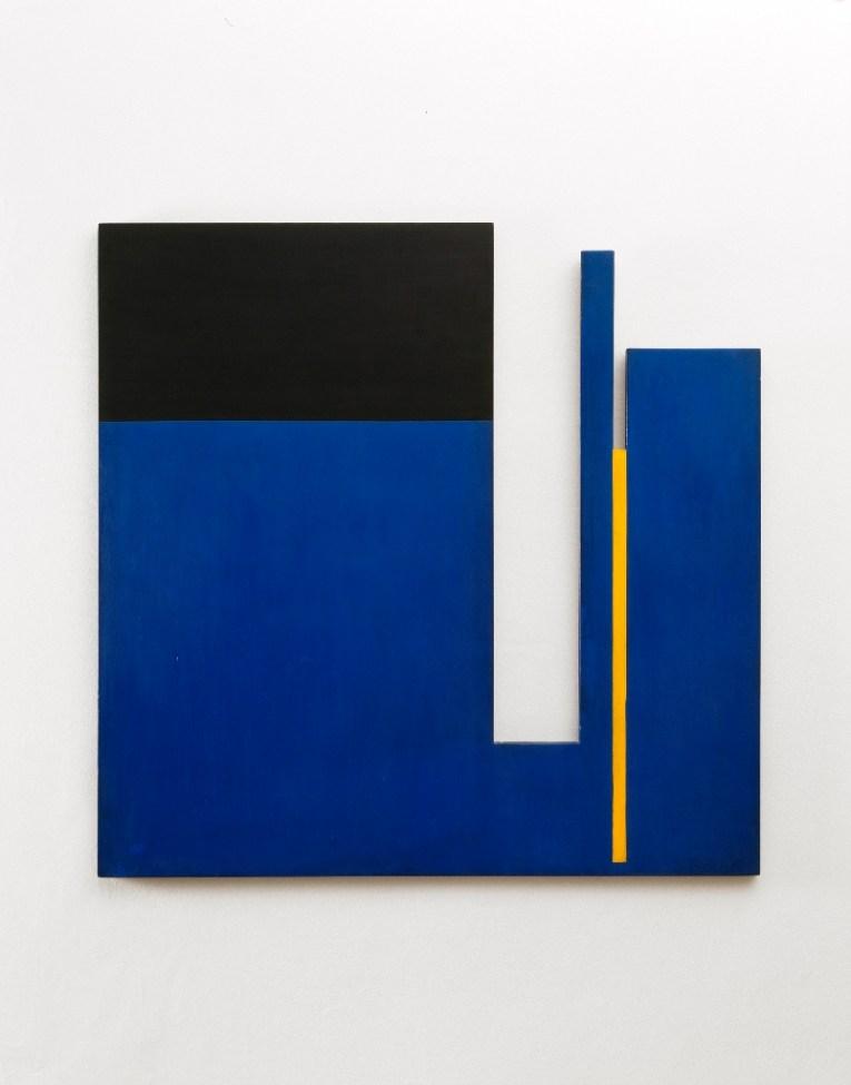 Bruno Munari, Negativo-positivo, 1953, olio su tavola, 100x100 cm Courtesy Fondazione J. Vodoz e B. Danese Foto Roberto Marossi