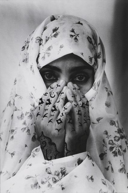 Shirin Neshat (1995), Identified, B&W RC, print & ink. Photo credit Cynthia Preston. Copyright Shirin Neshat. Courtesy Gladstone Gallery, New York and Brussels