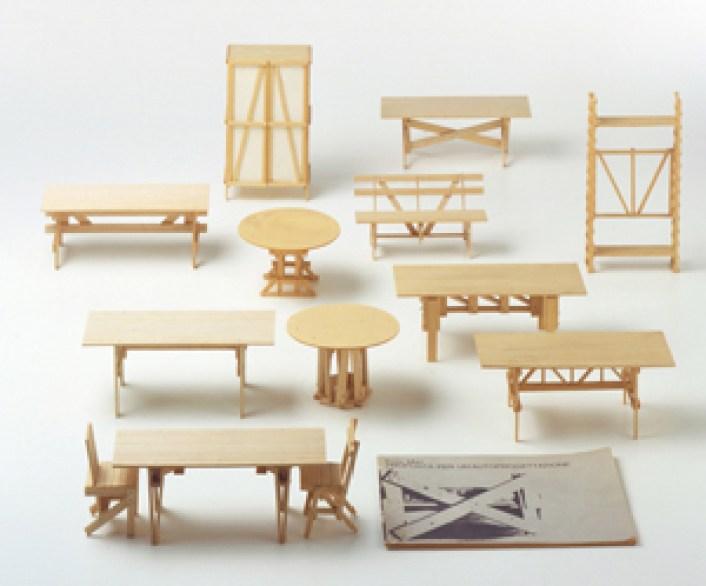Enzo Mari, Proposta per un¹autoprogettazione (modellini), 1973
