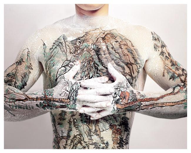 Huang Yan Shangshui Tattoo Series 1 - # 3, 1999 Courtesy Galerie Wilms & VIP's Gallery, Olanda