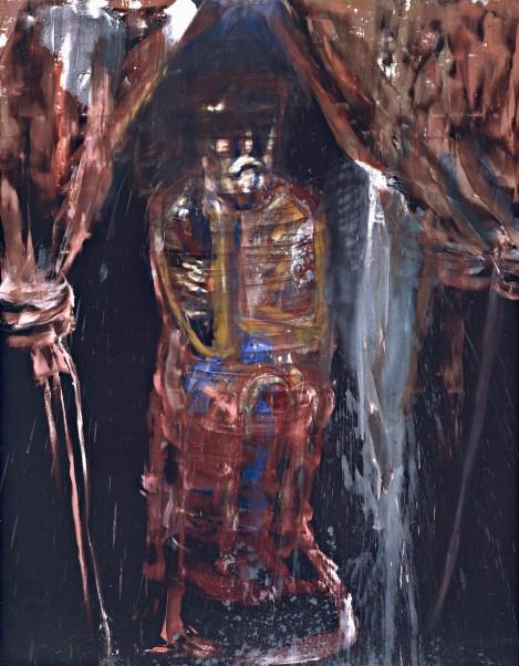 Julian Schnabel, Man of Sorrow (The King), 1983, olio e acrilico su velluto, Collezione Maramotti, Reggio Emilia © The artist Courtesy Collezione Maramotti