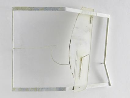 Valdi Spagnulo, White shadow, 2007, ferro, acciaio, plexiglass pigmentato, vernici, 70x80x15 cm circa