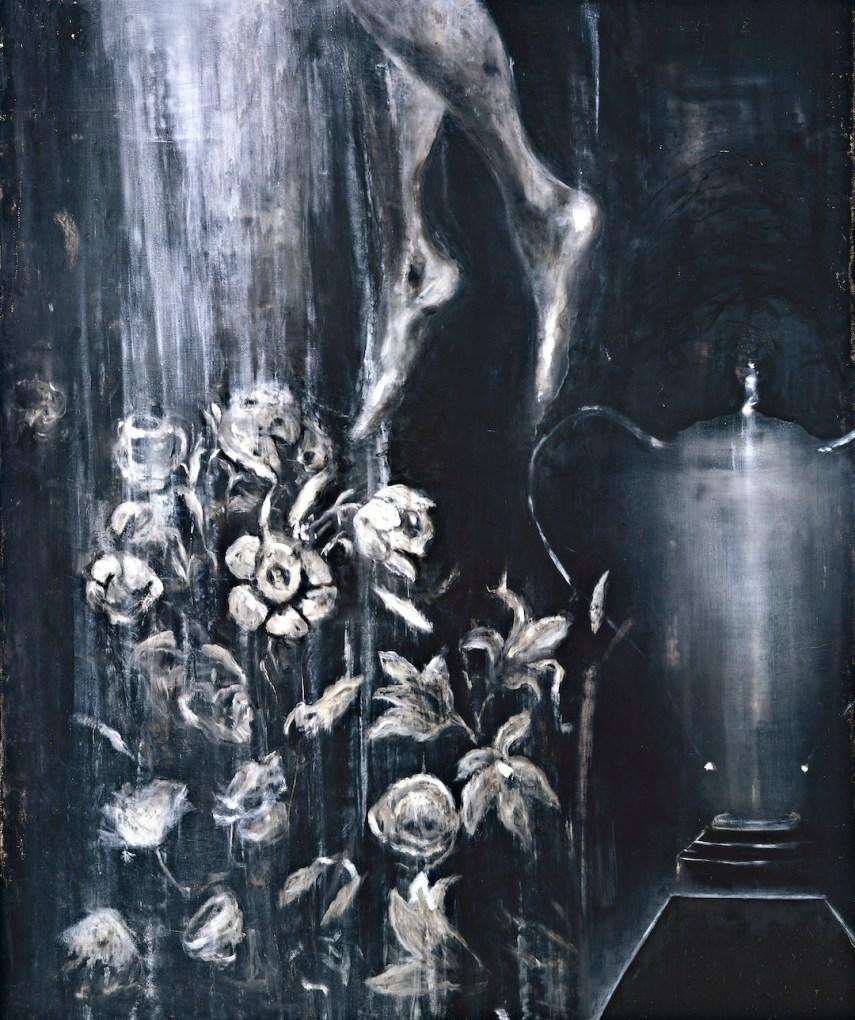 Ross Bleckner, One Day Fever, 1986, olio su lino, Collezione Maramotti, Reggio Emilia © The artist Courtesy Collezione Maramotti