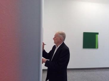 Giuliano Barbanti, allestimento della mostra Asimmetriche armonie, Lorenzelli Arte, Milano