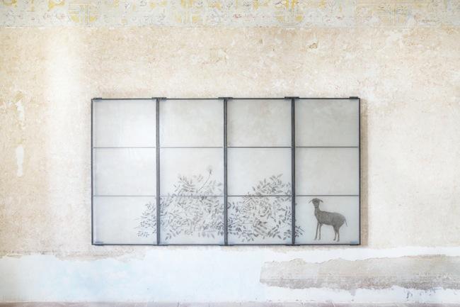 Kiki Smith, Meadow 2005 vetrata di piomboquattro pannelli |leaded stained glassfour panels ciascuno | each 138 x 62 cm Courtesy the artist and GALLERIA CONTINUA, San Gimignano / Beijing / Les Moulins Photo by Ela Bialkowska, OKNO STUDIO