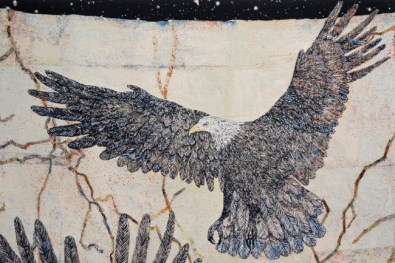 Kiki Smith, Guide 2012 arazzo jacquard|jacquard tapestry 287 x 190,5 cm Courtesy the artist and GALLERIA CONTINUA, San Gimignano / Beijing / Les Moulins Photo by Ela Bialkowska, OKNO STUDIO