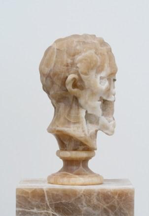 Nicola Samorì, Il male della pietra, 2014, onice, 48x3.5x31.5 cm (particolare)