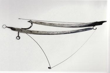 Gabriella Benedini, Grande astrolabio, 2001, scultura pensile polimaterica, 140x320 cm