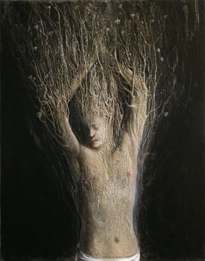 Agostino Arrivabene, Ciparisso, 2012-13, olio su lino, 71x56 cm