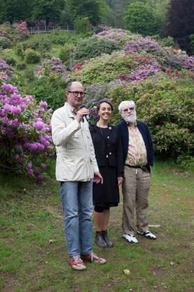 Andrea Zegna, Barbara Casavecchia e Dan Graham Photo Fondazione Zegna / Giovanna Silva