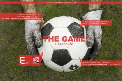 Danilo Correale. The Game – il racconto. Una partita di calcio a tre porte, Cinema Nuovo Pendola, Siena (invito)