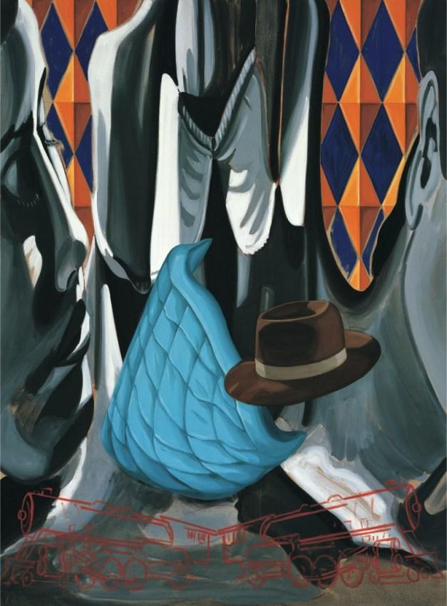 David Salle, Smoke, 2008, olio su tela di lino, 165.1x121.9 cm Courtesy Studio d'Arte Raffaelli, Trento