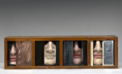 Claudio Parmiggiani, Elegia di un momento 1969 legno, gesso e vernice; cm 24,5x 40x141 Modena, collezione Cesare Leonardi