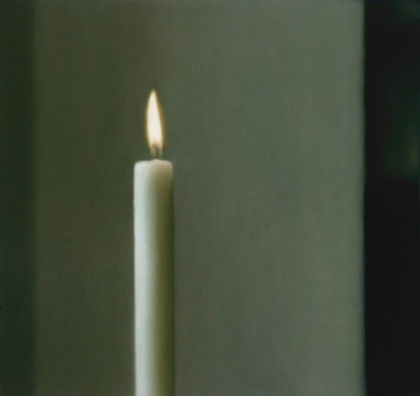 Gerhard Richter, Kerze, 1982 Candle Oil on canvas, 90 cm x 95 cm Collection Institut d'art contemporain, Rhône-Alpes © 2014 Gerhard Richter