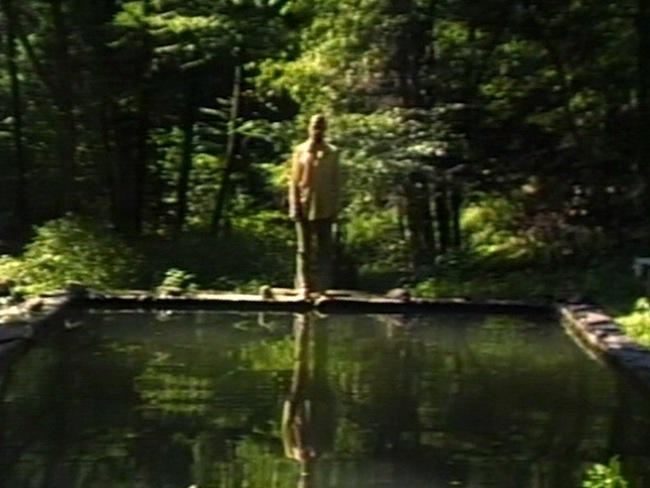 Bill Viola, the reflecting pool, color video, mono sound, 7 minutes