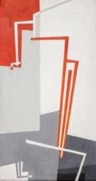 Hans Richter, Dragonfly (Counterpoint in Red, Black,Gray, and White), 1943, olio su tela, 74.9x39.4 cm, Collezione privata © 2013 Hans Richter Estate Foto © 2013 Museum Associates/LACMA