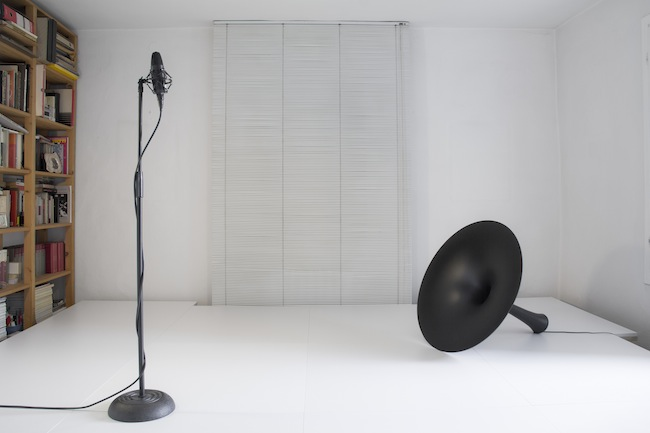 M. Spanghero-M.Tajariol, Stage, 2014, installazione site specific, legno e laminato, 310 x 350 x 45 cm