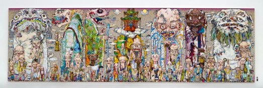 Takashi Murakami (Japanese, 1962-) 100 Arhats, 2013 Acrylic, gold and platinum leaf on canvas mounted on board 3000 x 10000 mm Courtesy Blum & Poe, Los Angeles (c)2013 Takashi Murakami/Kaikai Kiki Co., Ltd. All Rights Reserved. 6.