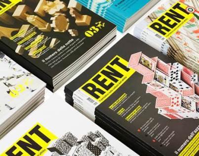 Rent, il periodico sulla cultura dell'affitto, custom media by white torino
