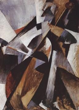 Hans Richter, Cello, 1914, olio e matita su cartone su pavatex, 65x47 cm, Aargauer kunsthaus © 2014 Hans Richter Estate Foto courtesy of the Hans Richter Estate